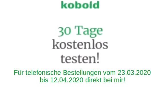 KOBOLD-Produkte 30 Tage kostenfrei testen