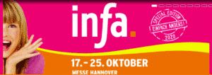 Infa 2020 in Hannover vom 17.10.2020 bis zum 25.10.2020